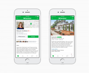 nextdoor real estate app
