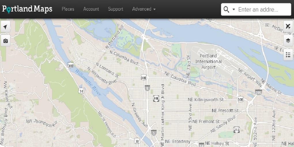 portland maps header